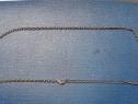 C557-I-Lant dama ceas buzunar vechi. Lungime deschis 64 cm.