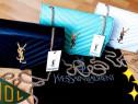 Genti Ysl,logo metalic auriu, Franta,saculet inclus