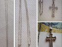 Cruce + lantisor din argint