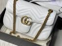 Geantă Gucci Marmont, logo metalic auriu/Italia