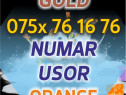 Numar GOLD Orange 075x.76.16.76 VIP usor aur platina numere