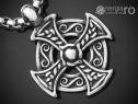Lant Lantisor Pandantiv Cruciulita Cruce Celtica INOX PND342