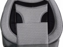 Huse scaune auto ECO Gri + Negru ( 11piese )