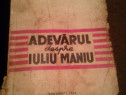 Adevarul despre Iuliu Maniu-Pompiliu Pop Muresan