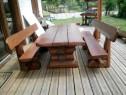 Mese rustice din lemn masiv
