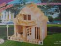 Puzzle 3D Casa din placaj de lemn moderna