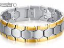 Brăţară Magnetică din INOX placata cu aur - cod BRA003