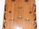 Cuier artizanal, din lemn masiv realizat manual Obiect decor
