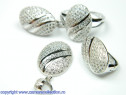 Set bijuterii argint rodiat Model ST567711