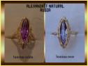 Inel dama aur Rusia cu Alexandrit natural taiere Marquise