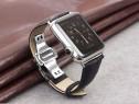 Curea piele croco Qialino Apple Watch Series 1 2 42mm negru