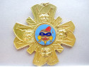 5159-Medalia Vintage Edgard 1 Genk, Belgia 1965, metal aurit