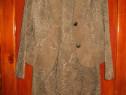 Costum dama : sacou,vesta,fusta culoare crem-maro (capucino)