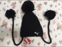 Caciula fes negru Puma, material gros, dublat, nou
