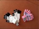 Manusi roz cu bleo sau alb cu negru,marime universala