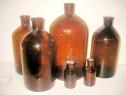 6 Sticle maro Farmacie vechi fara dop stare buna.