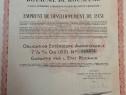 1000 franci aur obligatiune externa la purtator Romania 1931