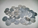 7841-Set 50 monede aluminiu Romania moderna.