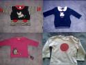 Bluze fetite 3-6,9,12,18 luni,bumbac,catifea moale