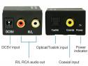 Convertor audio digital optic in RCA decodor sunet