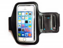 Armband telefon iPhone 7, husa universala ajustabila neagra,