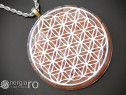 Pandantiv Orgonic Magnetic Floarea Vieții cu Cristale Cuart