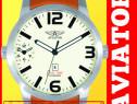 Ceas aviator dual-time doua fusuri orare mecanisme original