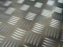Tabla aluminiu striata 2x1500x3000mm model Quintett 5 bare