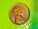9785-Moneda veche 1 Cent USA 1960 bronz stare buna.