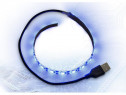 Banda LED Inter-Tech albastra Strip 30cm USB