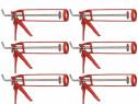 Pachet 6 bucati - Pistol silicon, Portocaliu