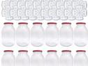 12x Borcan 4 litri cu capac + 20x Presa muraturi 1.75-2-3-5L