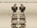 Statuete set vulturi pe soclu model S17 (2).