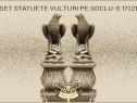 Statuete set vulturi pe soclu model S17 (2).
