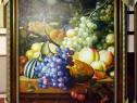 Tablou pictat manual pe panza in ulei Bucatarie Fructe A-185