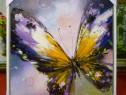 Tablou pictat pe panza in ulei Fluture A-257