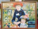 Tablou pictat manual pe panza in ulei Peisaj Copii A-422