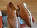 Pantofi dama piele maro leoflex