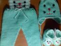 Costum crosetat manual pentru 6-9 luni