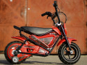 Motocicleta electrica pentru copil 3-7 ani cu roti ajutatoar