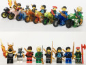 Set 8 Minifigurine tip Lego Ninjago Sons of Garmadon cu moto