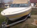 Barca din fibra de 8 persoane si motor Honda de 150 cp din 2