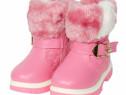Ghete imblanite fete | Ghete roz iarna copii |Ghete copii