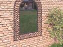 Oglindă de perete de grădină, negru 275607