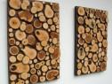 Panouri rondele lemn pe comanda