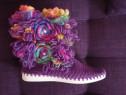 Cizme tricotate manual
