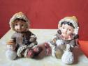 Miniaturi vintage:copii+porumbei,germany-cadou inedit