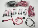 Cablu sata 7-pin 90 grade si normal rosu/negru