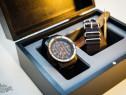 Cutie ceasuri lemn masiv finisaj deosebit bijuterii ceas