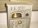 4552-Caseta Vintage metal pentru tigarete cu melodie.